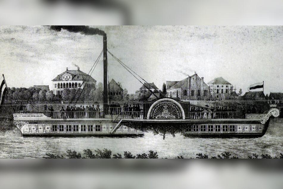 """Die """"Königin Maria"""" um 1837."""
