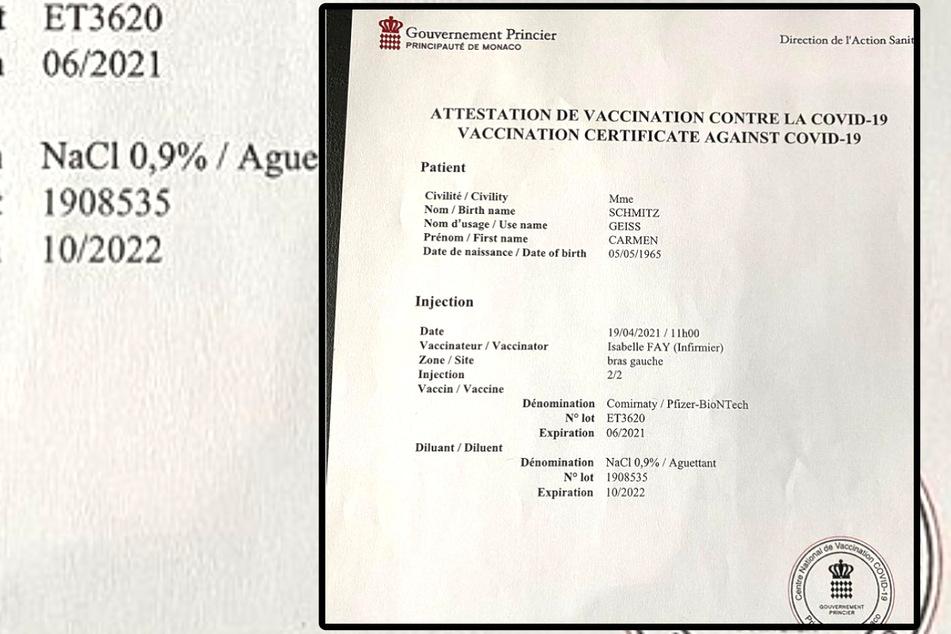 """In dem Dokument, das Carmen Geiss postete, steht auch ihr Geburtsname """"Schmitz"""" offiziell angegeben."""