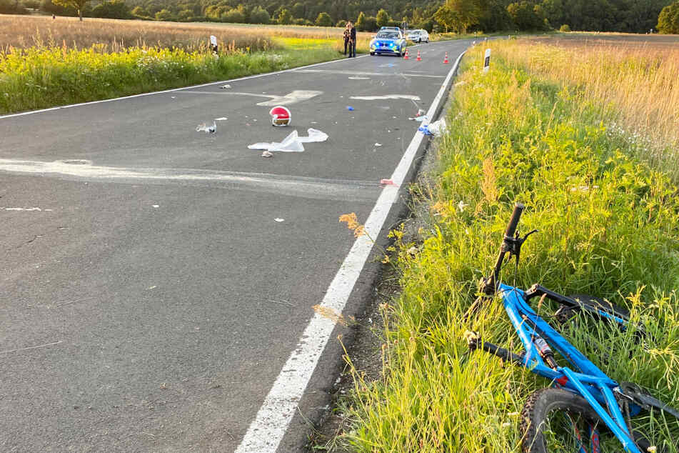 Die Polizei musste die BA25 während der Unfallaufnahme sperren.