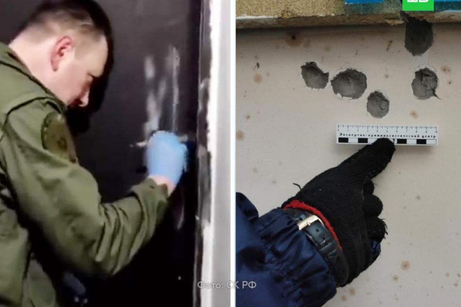 Junge Leute unterhalten sich unter Balkon, dann erschießt sie der Bewohner