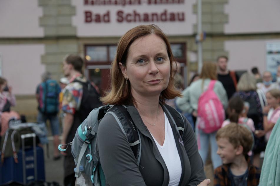 Lenka Zemanova (43) wollte nach Prag, strandete aber in Bad Schandau.