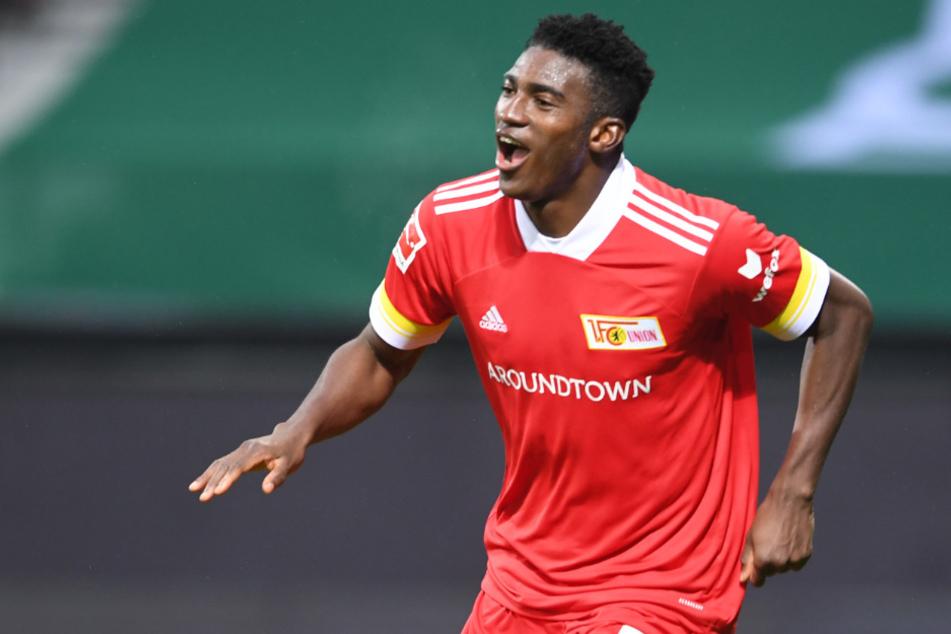 Taiwo Awoniyi (23) jubelt über das 2:0 bei Werder Bremen.