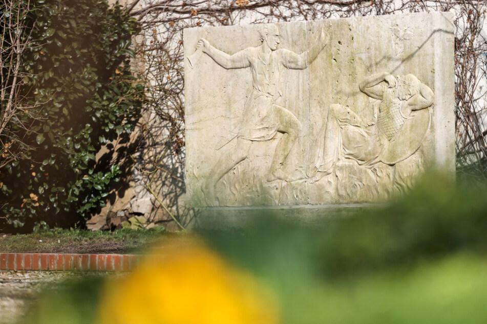 Ein Relief des in den 1930ern geplanten Wagner-Denkmals.