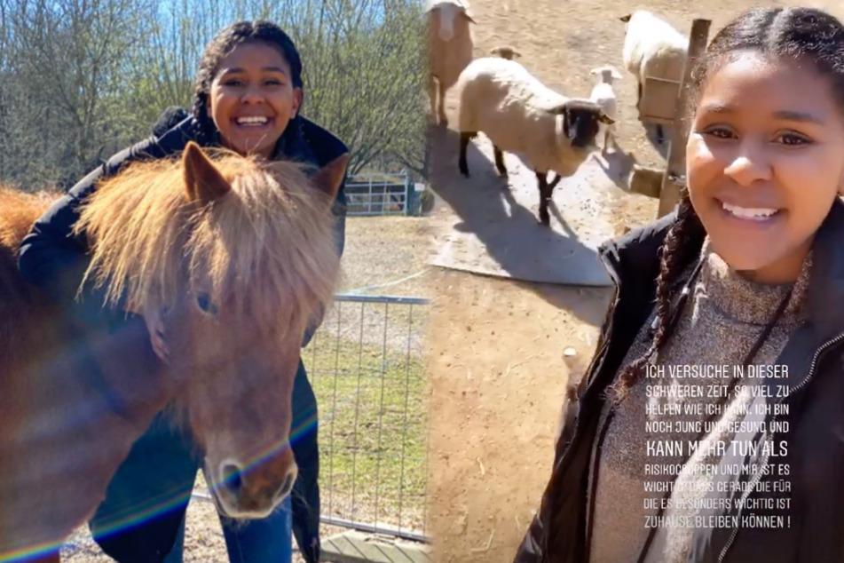 Das Bild zeigt die Screenshots zweier Instagram-Storys von GNTM-Kandidatin Lijana.