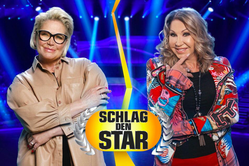 Schlag den Star: Carmen Geiss und Claudia Effenberg blamieren sich bei Promi-Spiel
