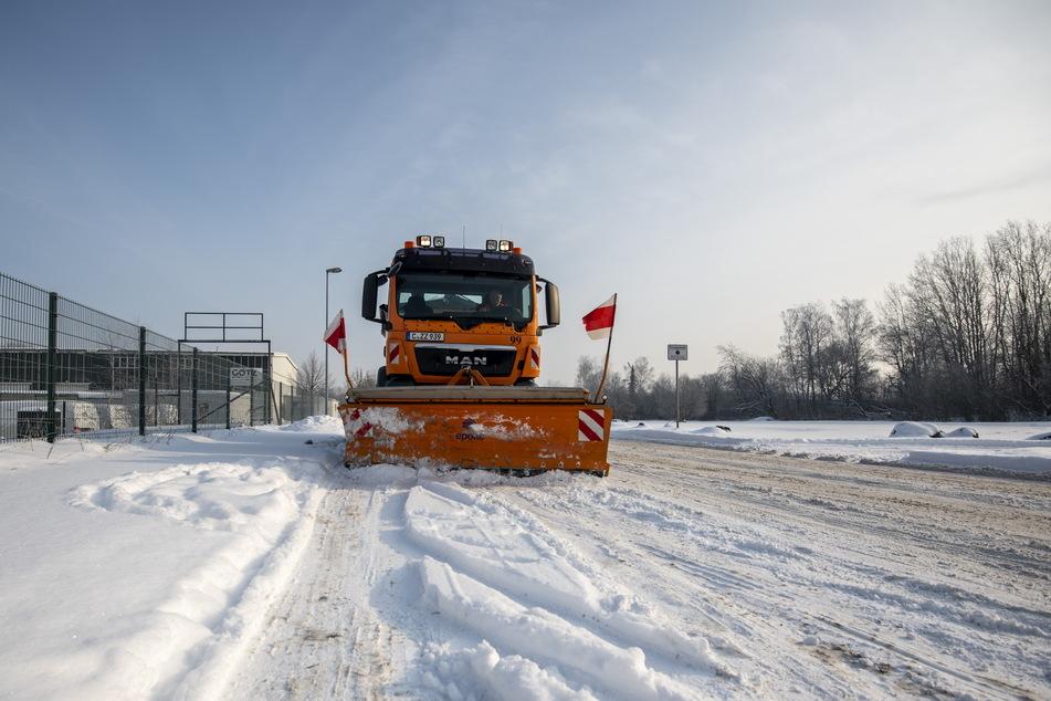 3,40 Meter breit ist das Räumschild an den großen Fahrzeugen des ASR.