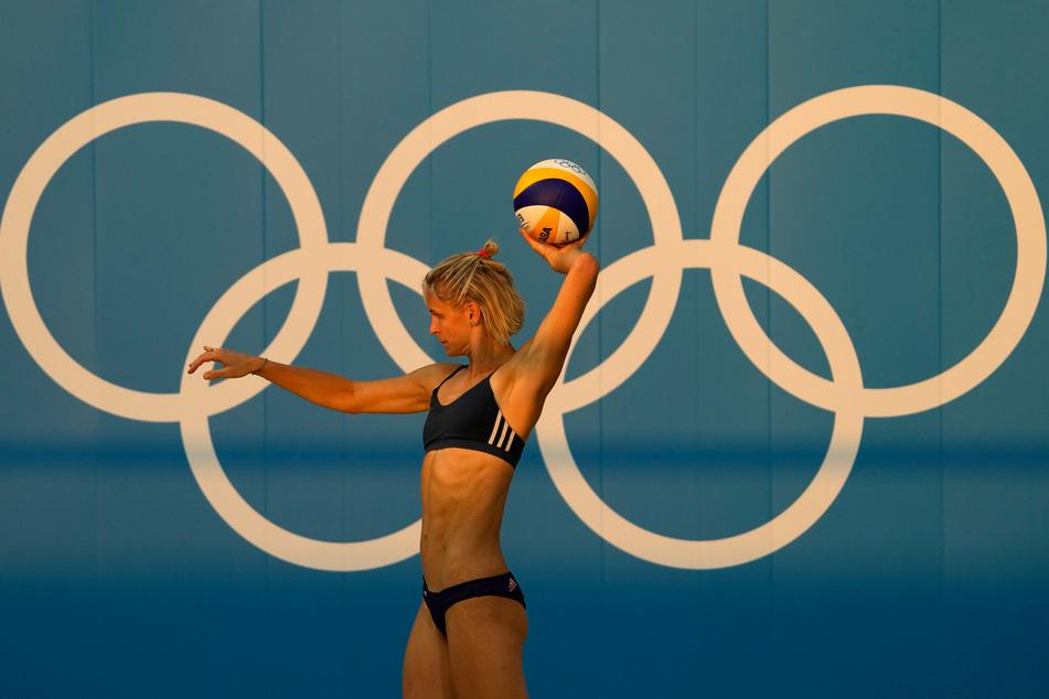 Laura Ludwig beim Training kurz vor dem Olympia-Start.