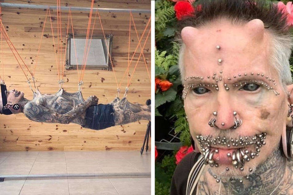 Sixty-year-old record holder for most body modifications hangs in suspense!