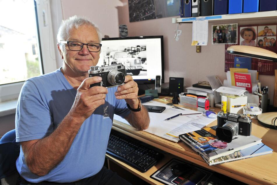 Henry Janauscheck (70) war Betonmischerfahrer und hat viele Baustellen der Stadt fotografiert.