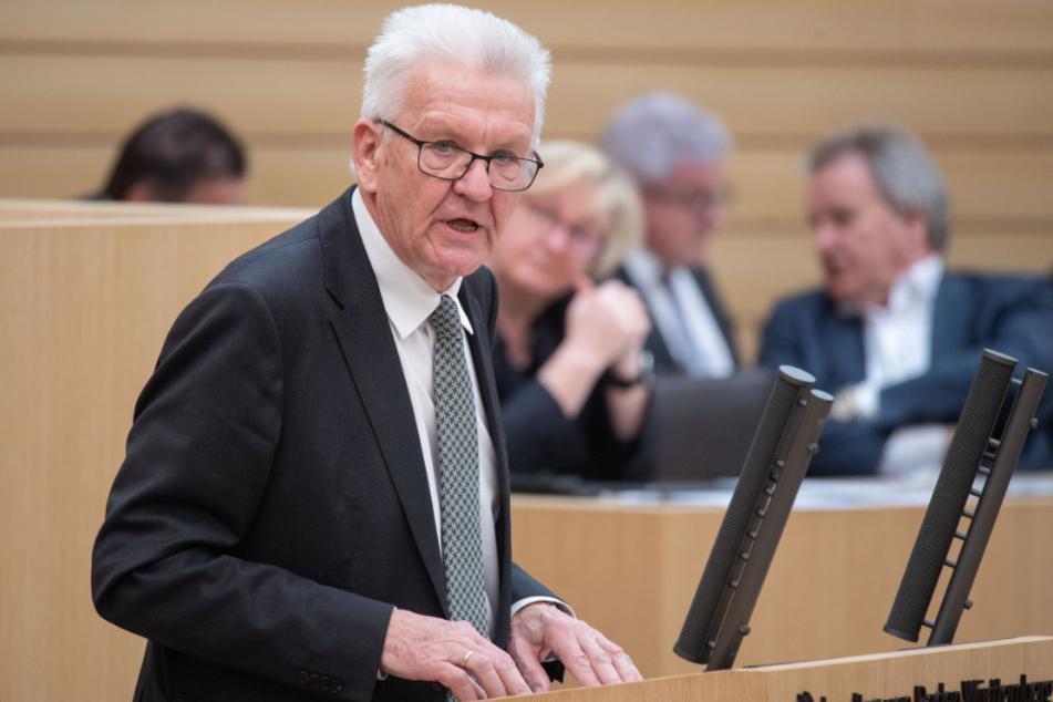 Ministerpräsident Winfried Kretschmann (71, Grüne).