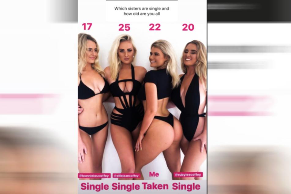 Laut Holly-Daze Coffey (Zweite von rechts) sind ihre drei Schwestern allesamt Single.