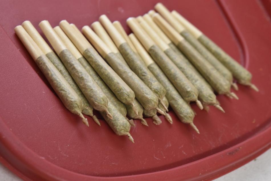 Marihuana-Zigaretten, auch Joints genannt, liegen in einer medizinischen Marihuana-Apotheke im US-Bundesstaat Montana.