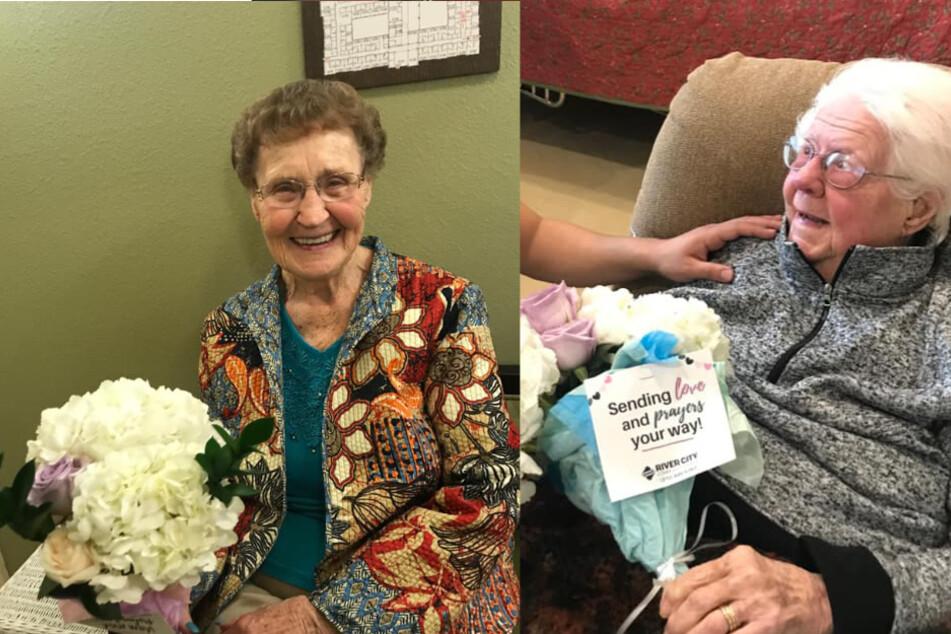 Die Bewohner des Pflegeheims freuten sich sichtlich über die Blumen.
