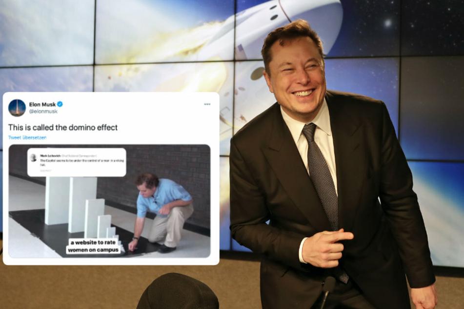 Elon Musk (49) kritisiert mit einem zweideutigen Post den Facebook-Gründer Mark Zuckerberg. Dessen soziales Netzwerk führe zu Hass und Aufruhr in der realen Welt.