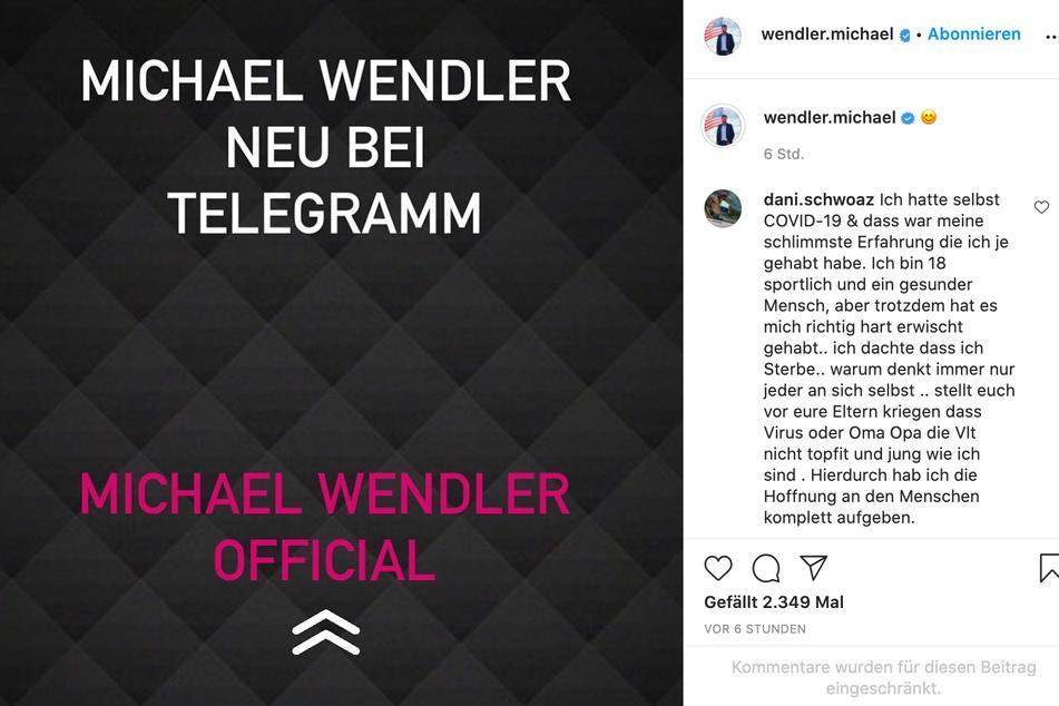 Zahlreiche User kommentierten Wendlers Post.