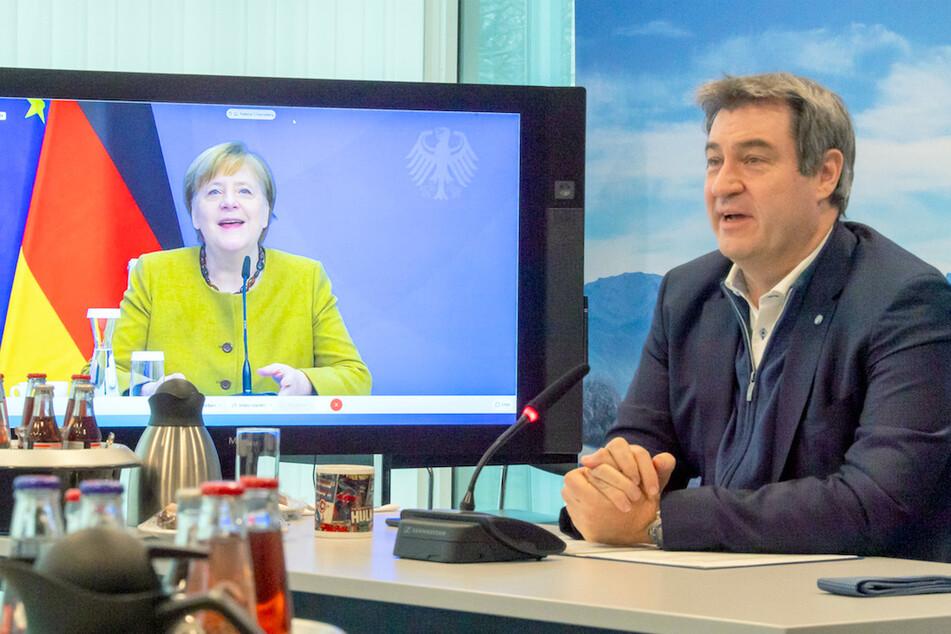 Merkel und Söder treffen sich mit Bürgermeistern und Landräten: Kanzlerin will auf Nummer sicher gehen