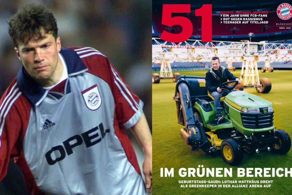 Zwei Jahrzehnte nach legendärem Hoeneß-Spruch: Lothar Matthäus macht den Greenkeeper!