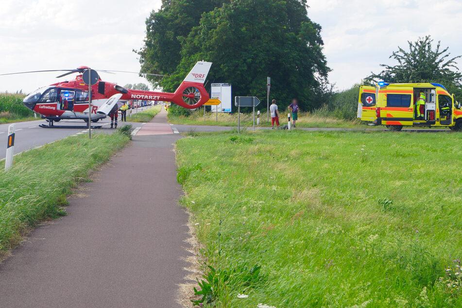 Am Unfallort landete auch ein Rettungshubschrauber.