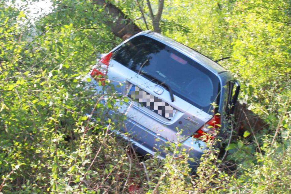 Der Honda prallte ungebremst gegen einen Baum neben der Landstraße 3117 bei Obertshausen.