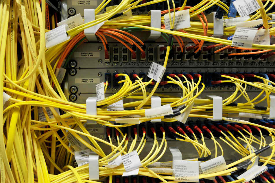 Beim Internet-Knotenpunkt in Frankfurt liefen am Dienstagabend bis zu 10 Terabit pro Sekunde durch die Kabel.