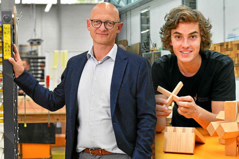Legendäre Deutsche Werkstätten geben Oberschülern Tischler-Nachhilfe