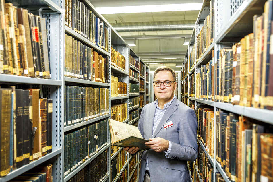 """SLUB-Generaldirektor Achim Bonte (56) ist Herr über das """"Gedächtnis Sachsens""""."""