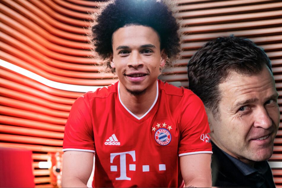 DFB-Direktor Oliver Bierhoff (r, 52) begrüßt den Wechsel von Nationalspieler Leroy Sané (24) zum FC Bayern München. (Bildmontage)