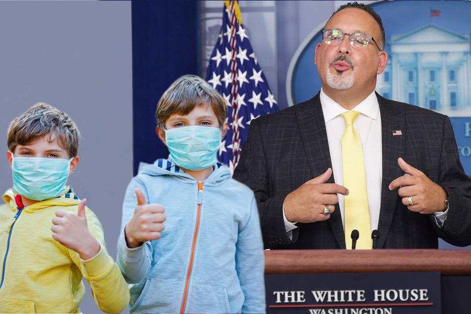 US education secretary says anti-mask states may see civil rights probes