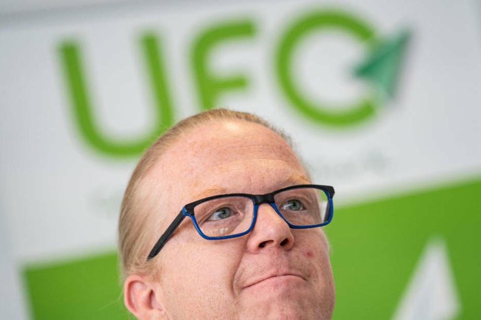 Ufo-Geschäftsführer Nicoley Baublies weist Lufthansa-Kritik zurück (Archivbild).