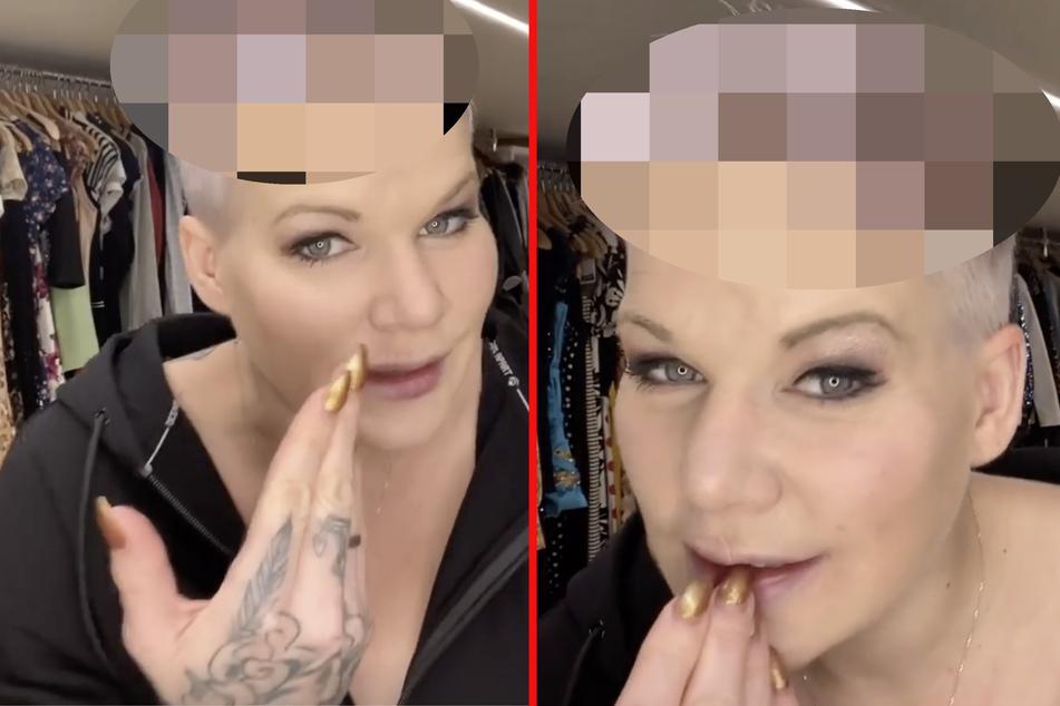 Melanie Müller will sich die Haare blond färben, das geht leider schief