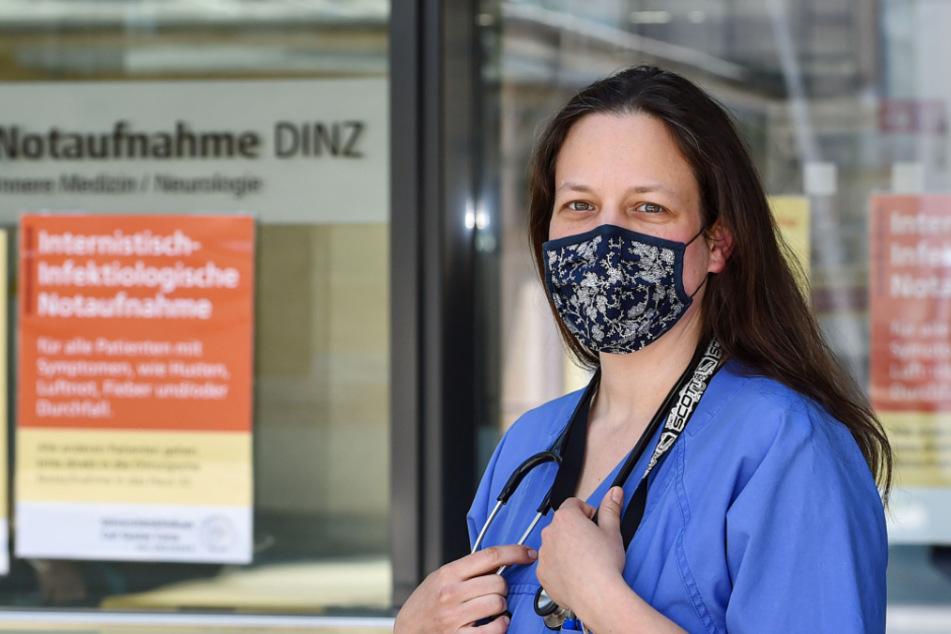 """""""Wir wissen jetzt genauer, worauf wir bei der Corona-Behandlung achten müssen und können besser therapieren"""", sagt Dr. Julia Fantana (40)."""