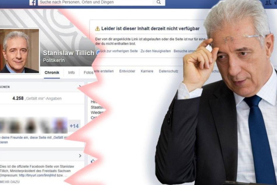 Wegen Hetzkommentaren? Facebook-Seite von Tillich ist jetzt offline