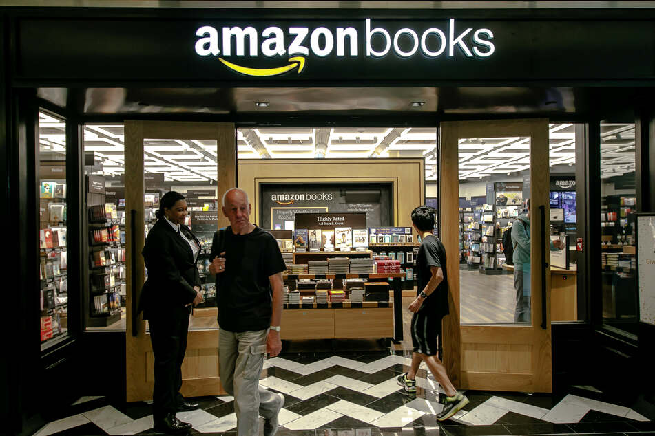 Amazon is responsible for 50% of all sales of print books and nearly 90% of online sales (stock image).