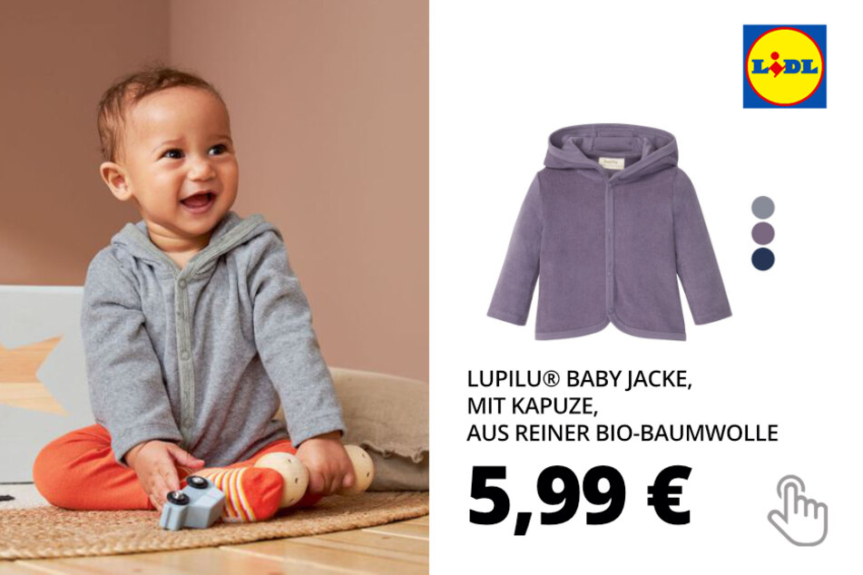 LUPILU® Baby Jacke, mit Kapuze