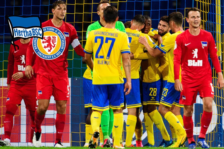 Hertha scheitert in irrem 9-Tore-Fight an Braunschweig und fliegt aus dem Pokal