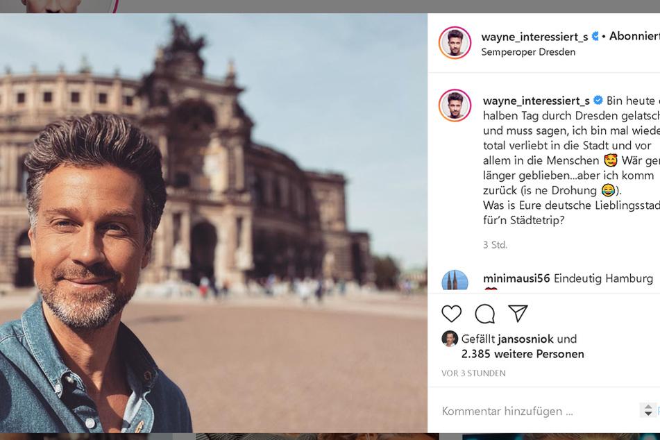 Wayne Capendale (43) liebt es in Dresden.