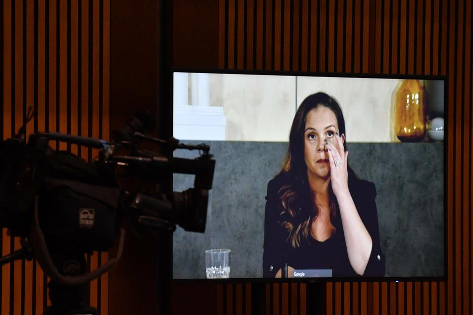 Melanie Silva, managing director for Google Australia, appeared via video conference before the Senate inquiry.