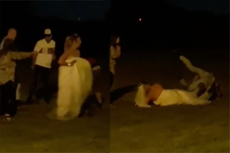 Bride wars: woman involved in mass brawl at her own wedding