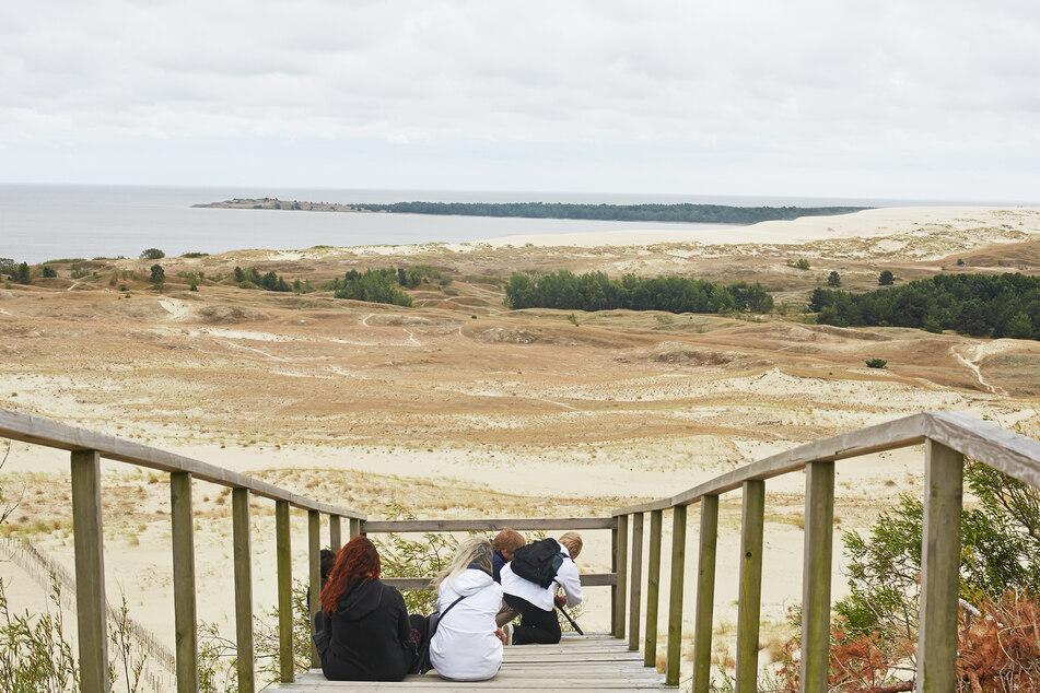 Blick von der Aussichtsplattform der 52 Meter hohen Parnidis Düne bei Nida.