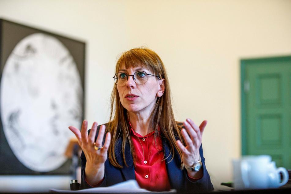 Sachsens Justizministerin Katja Meier (40, Grüne).