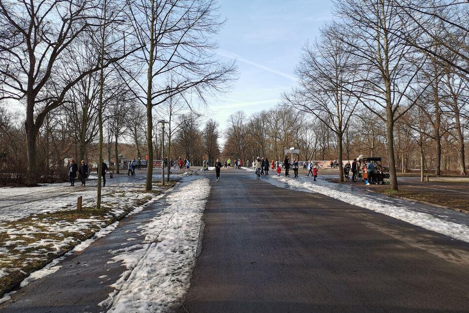 Das Frühlingswetter lockt zahlreiche Menschen in Leipzig an die frische Luft.