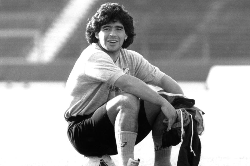 Ein Bild von Diego Armando Maradona aus dem Jahr 1989.