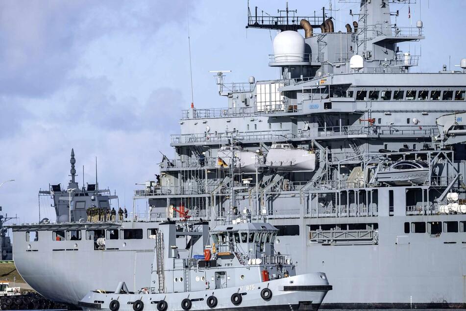 """Das Marineschiff """"Berlin"""" kehrt von seiner Mission zurück. (Archivbild)"""