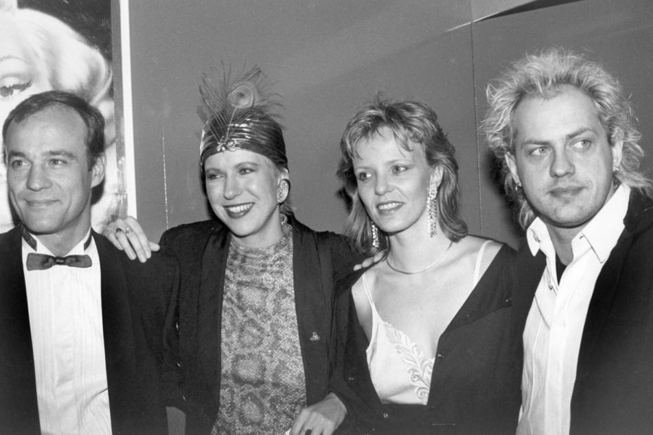 So war das damals: Heiner Lauterbach, Doris Dörrie, Ulrike Kriener und Uwe Ochsenknecht Anfang1986 auf dem Mathäser-Filmball in München.