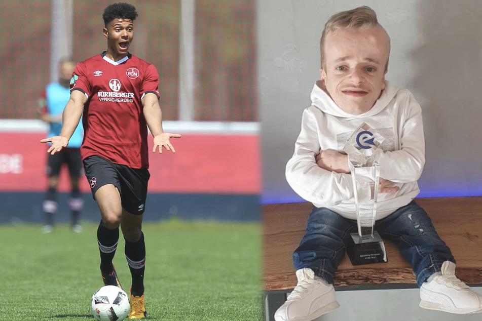 """Fußballprofi Niklas-Wilson """"Willy"""" Sommer (22, l.) und Niklas Luginsland (25) gewannen als Team den 18. Eligella-Cup in FIFA 21. (Fotomontage)"""