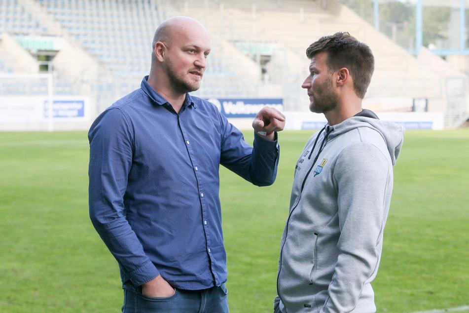 CFC-Sportdirektor Armin Causevic (l.) hält weiter zu Trainer Daniel Berlinski - zumindest vorerst.