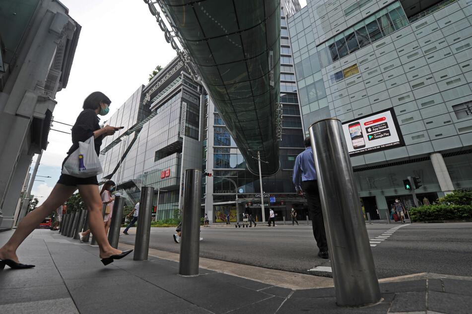 Eine Einkaufszone in Singapur. (Archivbild)