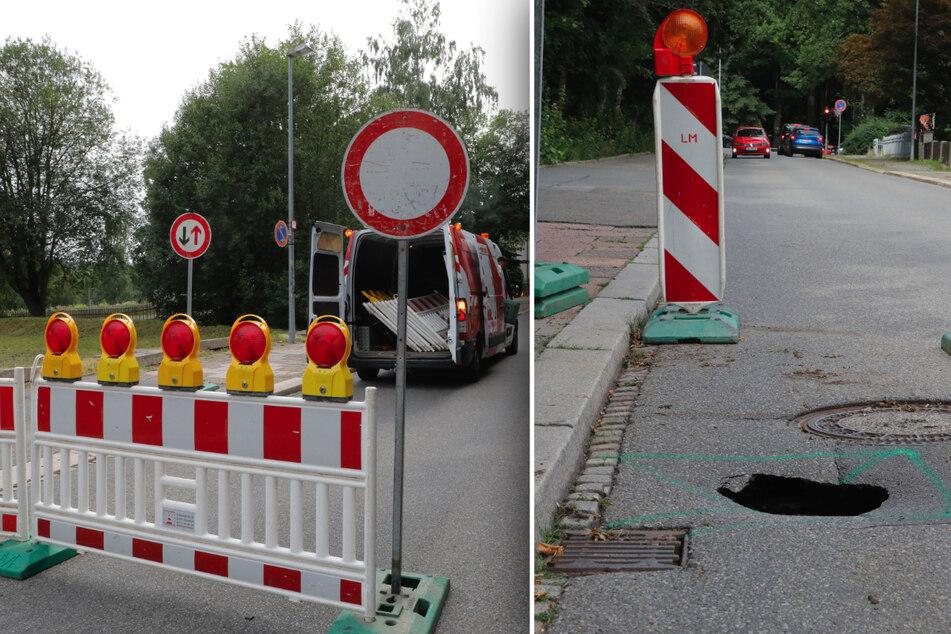 Chemnitz: Loch in der Fahrbahn! Diese Straße in Chemnitz ist ab sofort gesperrt