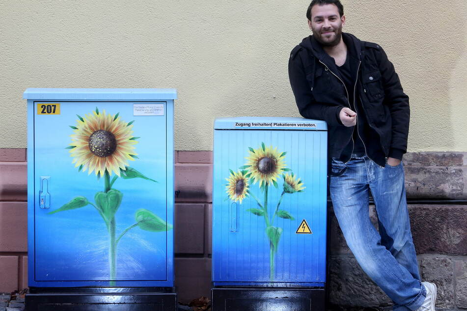 Friedrich Benzler (40) musste seinen Tattoo-Laden wegen des Lockdowns schließen.