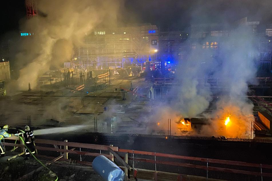 Stuttgart: Heftiger Brand auf Stuttgarter Baustelle!